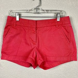 J. Crew Washed Pink Chino City Fit Shorts - 4